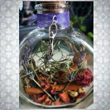home blessing witch bottle herbal blessing yule decor
