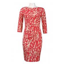 jessica howard sleeveless bokeh print belted cotton dress with