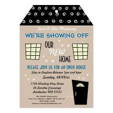 open house invitation whimsical tag cut open house invitation zazzle