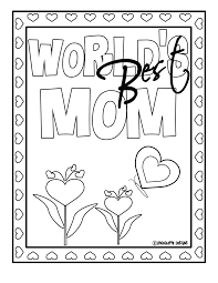 chocolatte designs free mother u0027s day coloring design