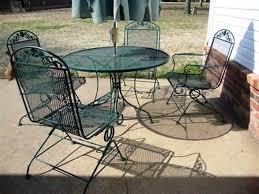 Used Metal Patio Furniture - patio 60 wrought iron patio chairs patio furniture 1000