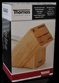 thomas premium knife range storage block for 6 pieces amazon co