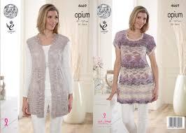 matching patterns king cole 4669 knitting pattern ladies smock tunic and matching