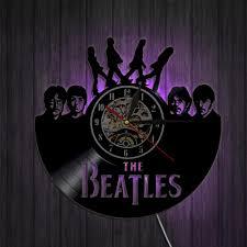 beatles home decor the beatles retro vinyl record clock a u2013 novelty trends