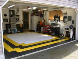 garage flooring and the choice of the style home design ideas 2017 diy small garage flooring design ideas with white and yellow colors