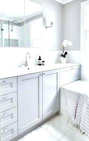 white vanity bathroom ideas gray and white bathroom streethacker co