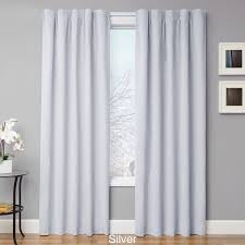 White Energy Efficient Curtains Curtains Attractive Light Blocking Curtains For Family Room