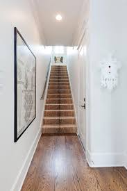 recessed baseboards home design artwork in cozy transitional staircase ideas with