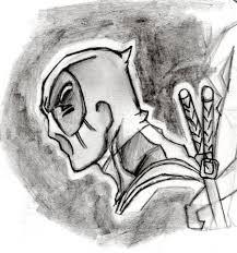 deadpool pencil drawing by flubberg464 on deviantart