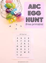Easter Egg Hunt Ideas Abc Egg Hunt With Free Printable About A Mom
