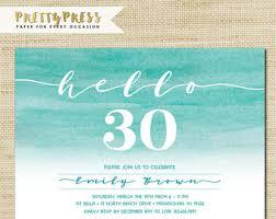 30th birthday invitation modern faux gold foil hello 30