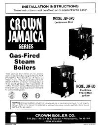 crown boiler boiler jbf spd user guide manualsonline com