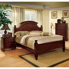 furniture of america european style cherry four poster bed free