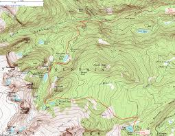 Colorado National Parks Map by Topographic Map Of The Fern Lake Trail Rocky Mountain National
