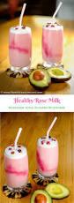 healthy rose milk avocado milkshake the delicious crescent