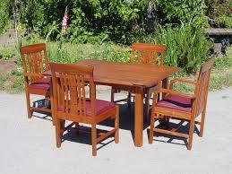 Custom Dining Room Tables by Voorhees Craftsman Mission Oak Furniture Item Retired