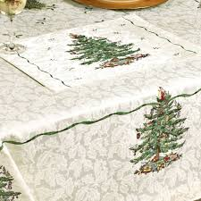 spode tree table linens