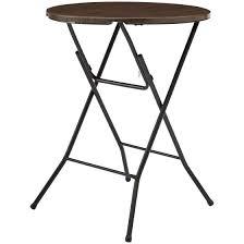 High Top Folding Table Mainstays 31 High Top Folding Table Walnut Walmart