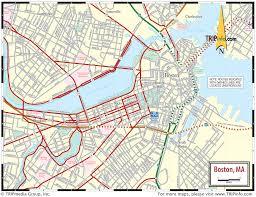 Massachusetts Maps by Map Of Boston Massachusetts Vacations Travel Map Holiday