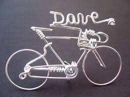 handmade personalized name bicycle ornament decor wire gifts