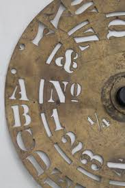 antique brass lettering numbering clock wheel stencil sign