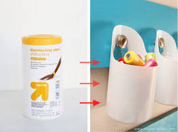 hanging storage bins made from recycled containers make it and