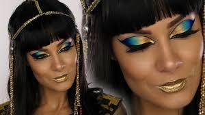 Cleopatra Makeup Tutorial Halloween Costume Ideas Youtube Cleopatra Egyptian Goddess Halloween Makeup Tutorial Shonagh