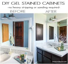 How To Make Old Wood Cabinets Look New Diy Gel Stain Cabinets No Heavy Sanding Or Stripping Maison