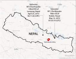 Map Of Nepal And China by Earthquakes And Megacities Initiative Emi M7 8 Nepal