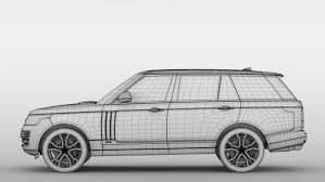 range rover white 2017 range rover svautobiography dynamic lwb 2017 3d model in sport