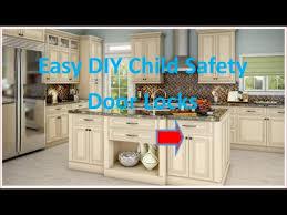 Child Safety Locks For Kitchen Cabinets Diy Easy Child Safety Locks Youtube