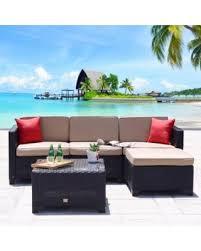 Mountain Outdoor Furniture - hello winter 44 off cloud mountain 5 pc patio rattan wicker sofa