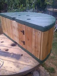 outdoor tables made out of wooden wire spools 38 best spools images on pinterest good ideas cable reel table