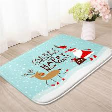 Christmas Bathroom Rugs Honlaker Christmas Bath Mats Flannel Printing Bathroom Rug Toilet