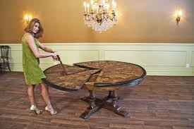round dining room tables with leaf details about large round walnut dining room table with leaves