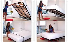 Bunk Bed With Pull Out Bed Bedroom Glamorous Pull Out Bed From Wall Nuovoliola Storage With