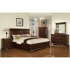 Storage Bed Sets King Elements International Canton Cherry Storage Bed Cn350qb Kb