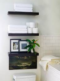 bathroom shelves ideas decorating with floating shelves hgtv intended for bathroom wall