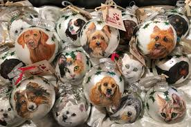 painted and cat ornament balls at pawspetboutique