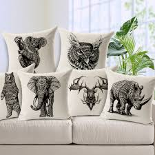 aliexpress com buy 2016 seat cushion covers elephant animal aliexpress com buy 2016 seat cushion covers elephant animal decorative home decor sofa chair throw pillows decorate pillow cases cushions 45 45cm from