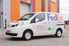 nissan work van fedex trials nissan nv200 ev electric van in london zero