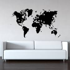 World Map Stencil World Map Vinyl Wall Decal World Map With Pins