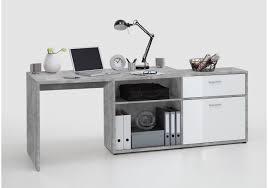 Ecken Schreibtisch Schreibtisch Weiss Hochglanz Hell Grau Atelier Woody 70 00729