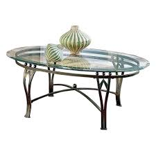 glass top cocktail table have to have it steve silver madrid oval glass top coffee table