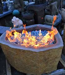 Fire Pit Crystals - andesite stone fire pit 18