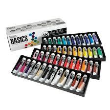 liquitex basics acrylic paint set 0 74 ounce s assorted colors set of 48