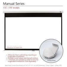 amazon com elite screens manual 150 inch 4 3 pull down