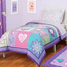 Cheap Toddler Bedding Retro Pink Blue Peace Sign Love Girls Bedding Twin Or Full