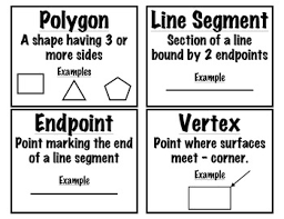 math printable geometry vocabulary cards grades 2 5 by kmpapple