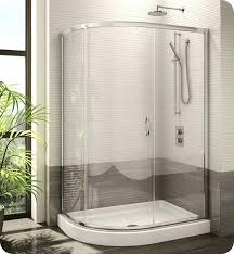 Curved Shower Doors Curved Shower Doors Signature Half Curved Glass Sliding